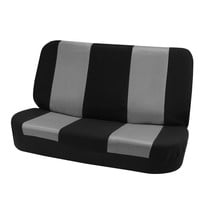 FH-FB102R010 Classic Bench Car Seat Cover Gray / Black