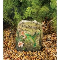 Magic Motion Solar Powered Hummingbird Stone Decor
