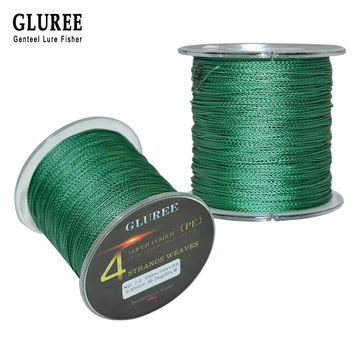 GLUREE Mainline4 Stands PE Braided Fishing Lines100M 109Yards 100% 8-150LB PE Multifilament Braided Wire Smoother Fishing Line