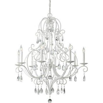 Murray Feiss Chateau Blanc 8 Light White Chandelier - F2303/8SGW