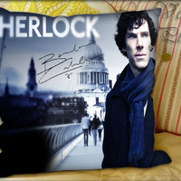 Sherlock Holmes - Pillow Cover and Pillow Case.