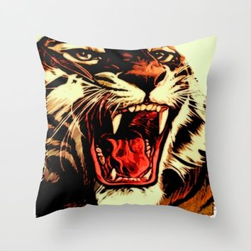 King Of Bengal Throw Pillow by Inspired Images