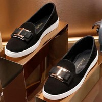 Salvatore Ferragamo Women Fashion Simple Casual Loafers  Shoes