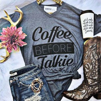 Coffee Before Talkie Graphic Tee