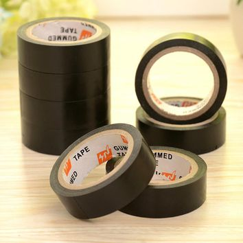 Satndok 1 Roll Black PVC Electrical Flame Retardent Insulation Adhesive Tape Electrical Tapes DIY Home Tools 17mm width