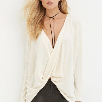 Contemporary Twist-Front Sweater