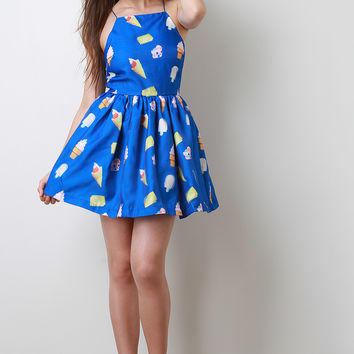 Ice Cream Skater Dress