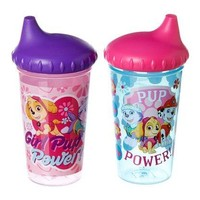 Nickelodeon PAW Patrol Skye and Everest Slim Sippy Cups, Pink, 2 Count
