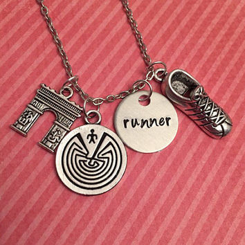 Runner Necklace - Maze Runner Inspired Necklace - Fandom Jewelry - The Maze Runner Jewelry