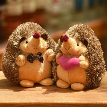 18cm Cute Lovely Soft Hedgehog Animal Doll Stuffed Plush Toy Child Kids Home Wedding Party Toys for Children Kid gift