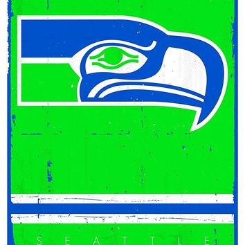 Seattle Seahawks Vintage Logo 22x34 Football Poster