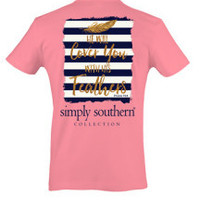 Simply Southern Feathers Tee - Pink