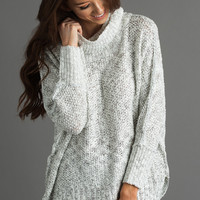 Mary Two Tone Cowl Neck Sweater