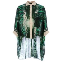 TWISTY PARALLEL UNIVERSE dropped hem boxy shirt