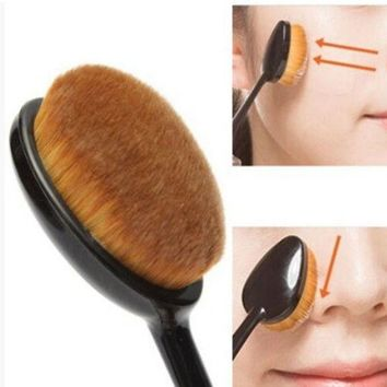 PEAPDQ7 Trendy Oval Makeup Beauty Brush Cosmetic Foundation Cream Powder Blush Makeup Tool Best Gift