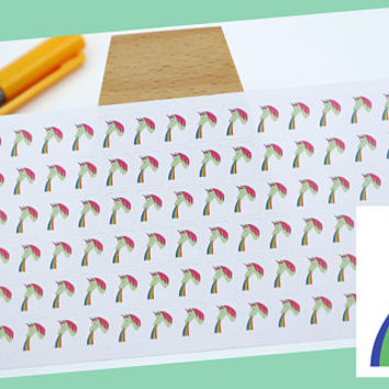 PLANNER STICKER || unicorn - rainbow || fantasy stickers || small colored icon | for your planner or bullet journal