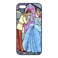Cinderella Design TPU Black Case For Iphone 5 5s stecin6-1317