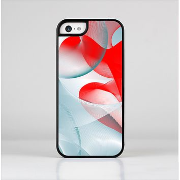 The Abstract Teal & Red Love Connect Skin-Sert Case for the Apple iPhone 5c