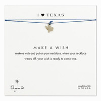 I love texas necklace on royal, sterling silver