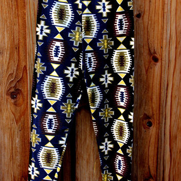 Girls Football Print Leggings