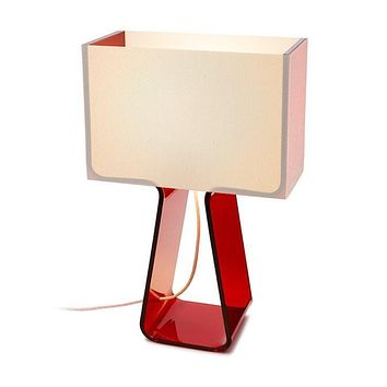 Pablo Designs Tube Top Table Lamp in Reds