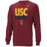 Nike USC Trojans Knows Legend Long Sleeve Performance T-Shirt - Cardinal