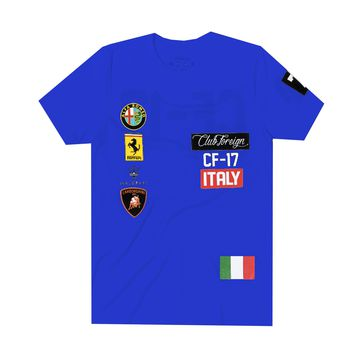 Club Foreign Italy T-Shirt in Blue