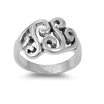 925 Sterling Silver Celtic Gaelic Filigree 13MM Ring