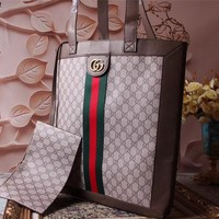 GUCCI GG SUPREME CANVAS SUPER BIG BAG SHOULDER BAG
