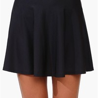 Nylon Skater Skirt in Black