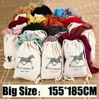 155*185cm Fashion Horse Soft Cotton&Linen Blend Solid Winter Scarf Women Warm Tassel Shawls and Scarves Scarfs