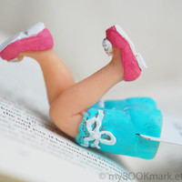 Sexy Housewife Legs in the book bookmark .Pink shoes by MyBookmark