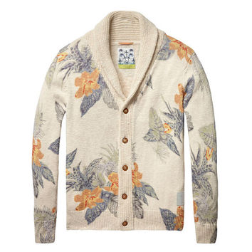 Floral Cardigan Sweater by Scotch and Soda