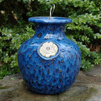 Glazed Down Under Pots - SAPPHIRE SEA FOAM DOWN UNDER POT