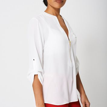 Roll-Up Sleeve Blouse Ex-Branded