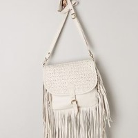 Wave-Fringe Crossbody Bag by Anthropologie Light Grey One Size Bags