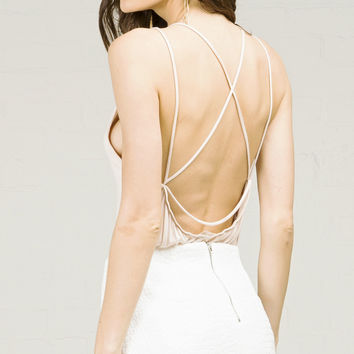 Crossed Out Strappy Back Tank Top
