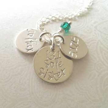 Sole Sister Necklace 13.1,26.2, Run Name, Run Date, Gift for Runner, Marathon, Half Marathon, Runner Jewelry