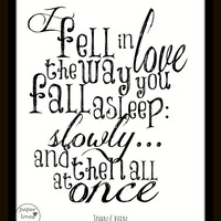 "John Green ""The Fault in our Stars"" Quote 8X10 Typography"
