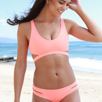 The Girl and The Water - L*Space Swim - Valley Girl Top / Coral - $73