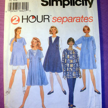 Maternity Clothes Misses' Size XS, Small, Medium Simplicity 9342 Sewing Pattern Uncut