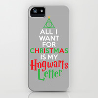 Christmas Hogwarts Letter iPhone & iPod Case by LookHUMAN