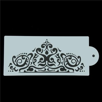 Cool Crown King Princess Queen Cake Stencil Frostings Spray Stencils Fondant Cake Decoration Template Mold Baking ToolsAT_93_12