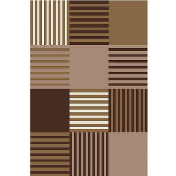 Checker Blocked Pattern Area  Rug