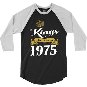kings are born in 1975 3/4 Sleeve Shirt