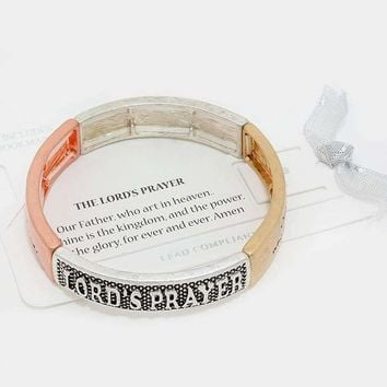 """Lord's Prayer"" Metal Stretch Bracelet"
