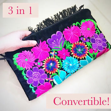 3 in 1 Convertible Bag Clutch & Tote