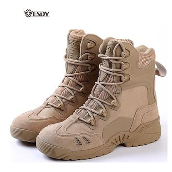 ESDY Man Tactical Army Outdoor Camping Hiking Trekking Combat Military Climbing Boots Hunting Wear-Resistance Sneakers B4