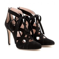 miu miu - suede lace-up sandals