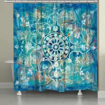 Blue Mandala Shower Curtain
